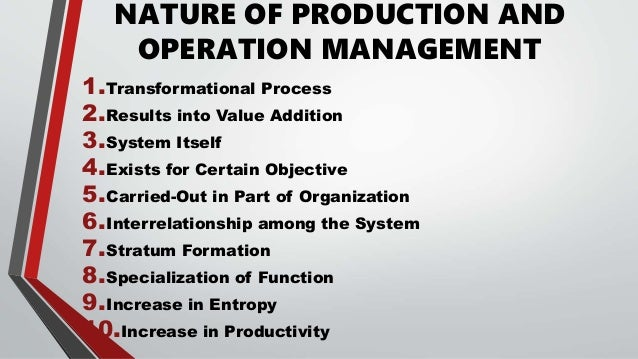 Meaning And Nature Of Production Management