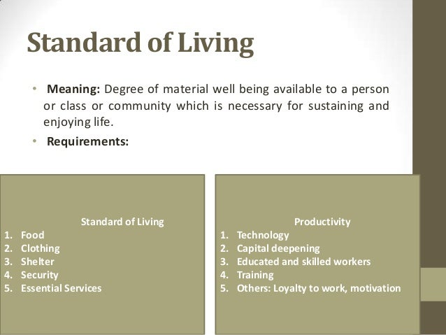 the standard of living New zealand social indicators page – information about indicators of standard of living.