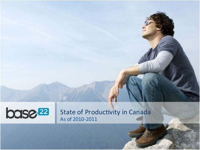 State  of  Produc-vity  in  Canada   As  of  2010-‐2011