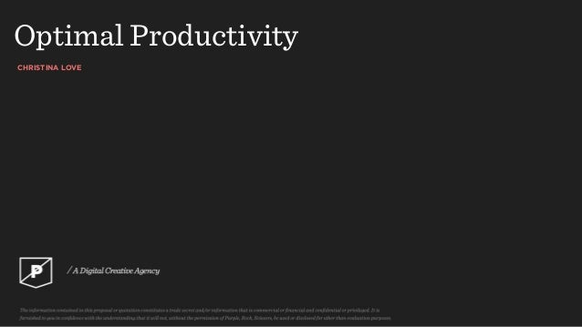CHRISTINA LOVE Optimal Productivity