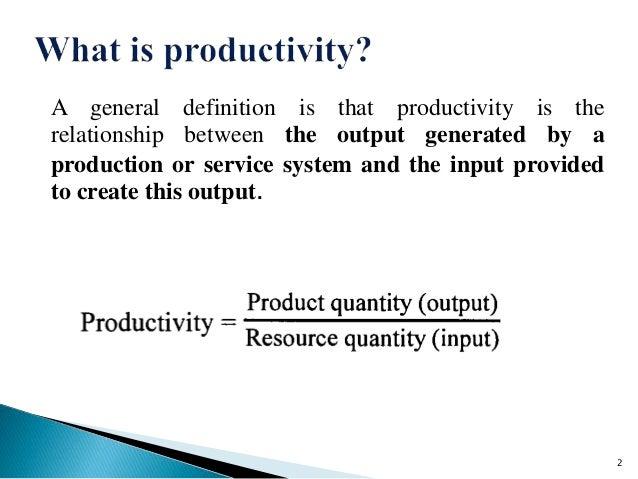 Productivity Measurement Approaches