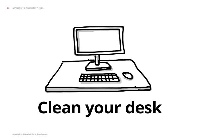 Copyright © 2013 Grapefruit SRL. All Rights Reserved. Clean your desk GRAPEFRUIT | PRODUCTIVITY PORN23