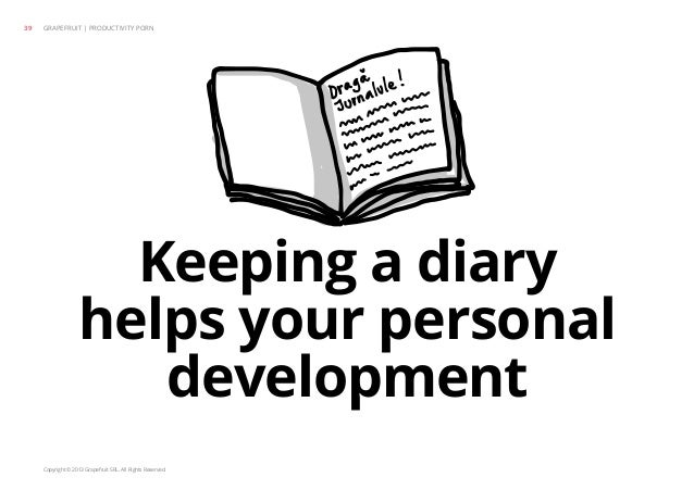 Copyright © 2013 Grapefruit SRL. All Rights Reserved. Keeping a diary helps your personal development GRAPEFRUIT | PRODUCT...