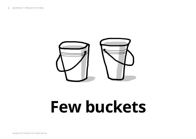 Copyright © 2013 Grapefruit SRL. All Rights Reserved. Few buckets GRAPEFRUIT | PRODUCTIVITY PORN4