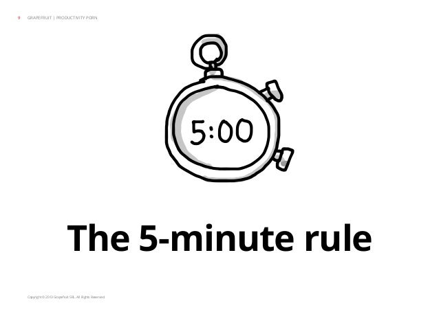Copyright © 2013 Grapefruit SRL. All Rights Reserved. The 5-minute rule GRAPEFRUIT | PRODUCTIVITY PORN9