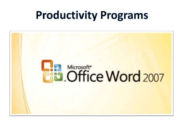 Productivity       Project/Task          Software  Program                               Application    Word       Text Do...