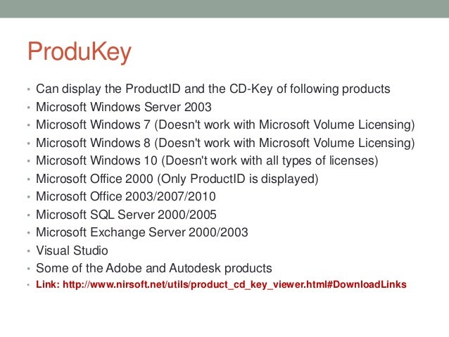 product key finders