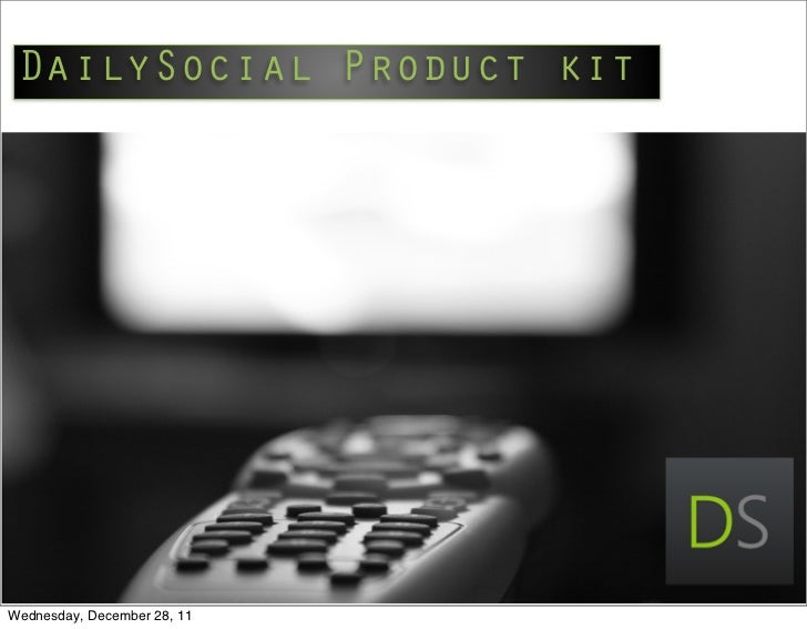 DailySocial Product kitWednesday, December 28, 11