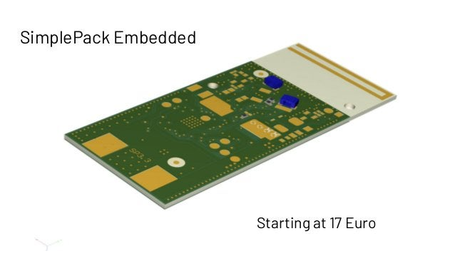 SimplePack Embedded Starting at 17 Euro
