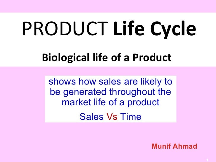 PRODUCT Life Cycle  Biological life of a Product   shows how sales are likely to   be generated throughout the      market...