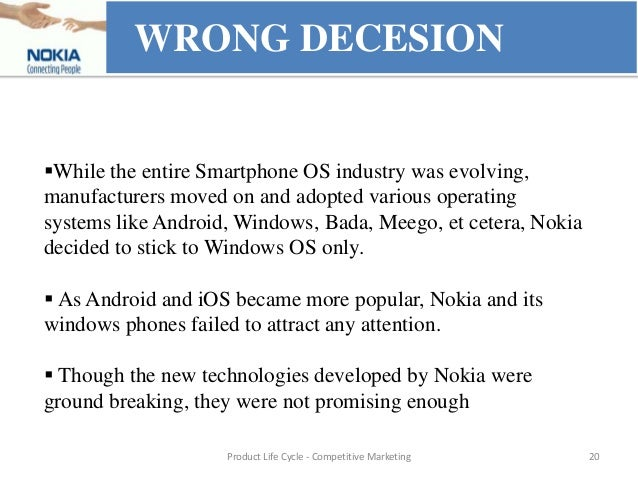 product life cycle of nokia nseries Models like nokia 3310/3315 marked beginning of growth stage  phones nokia  e- series nokia symbian & n- series nokia windows.