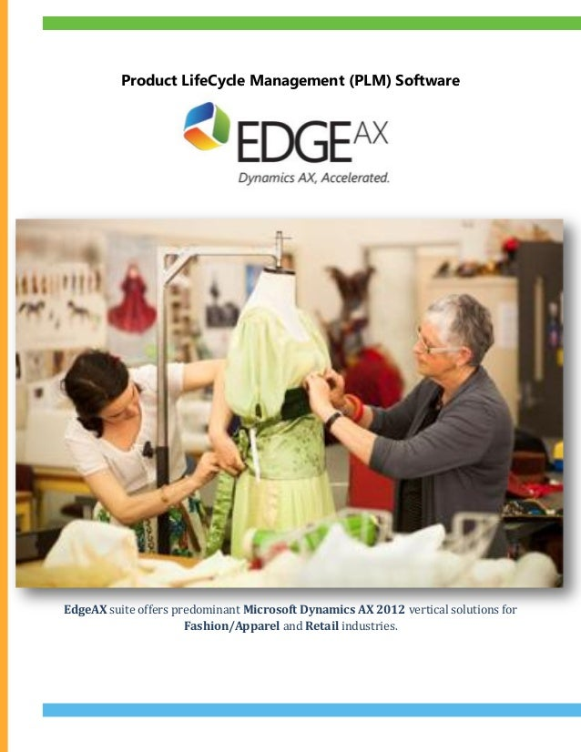 Product LifeCycle Management (PLM) Software EdgeAX suite offers predominant Microsoft Dynamics AX 2012 vertical solutions ...