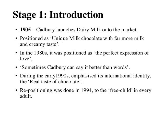 maturity stage cadbury dairy milk ppt Brand identity • in 1984 cadbury dairy milk is introduced in india • cadbury dairy milk is in the maturity stage of the share cadbury india product life cycle.