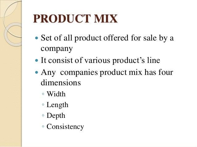 product mix of nestle pdf