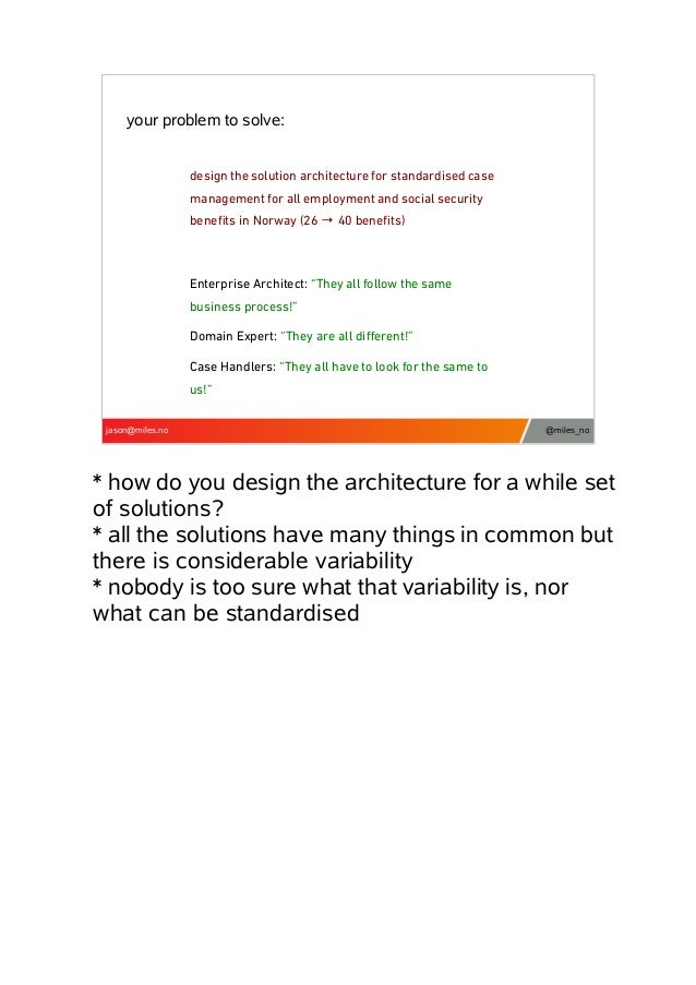 your problem to solve: design the solution architecture for standardised case management for all employment and social sec...