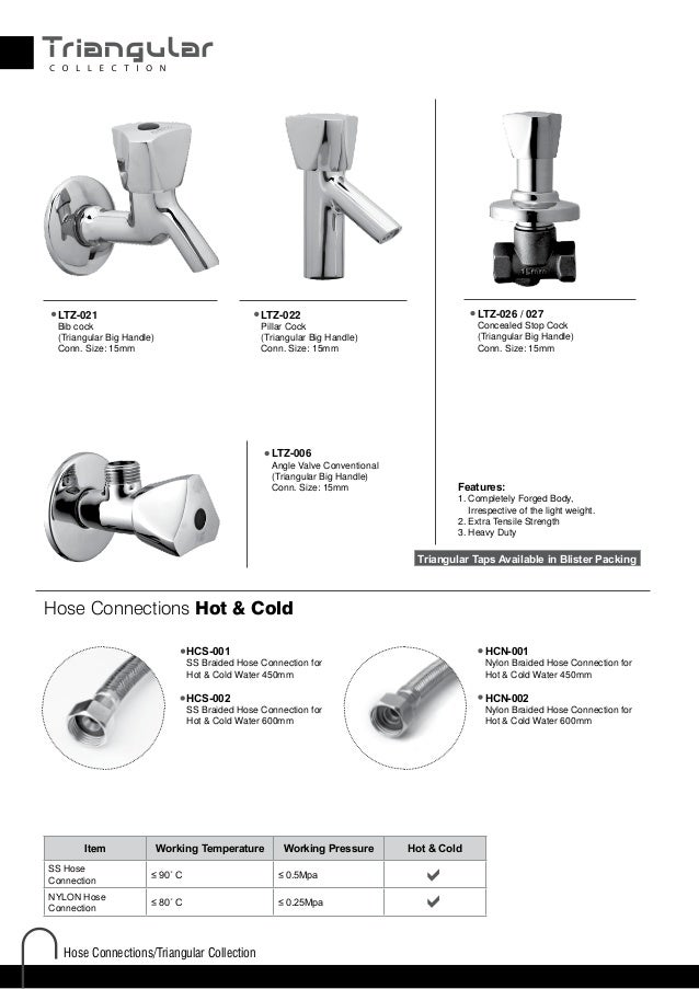 Collection  38. AGMECO Faucets Export List