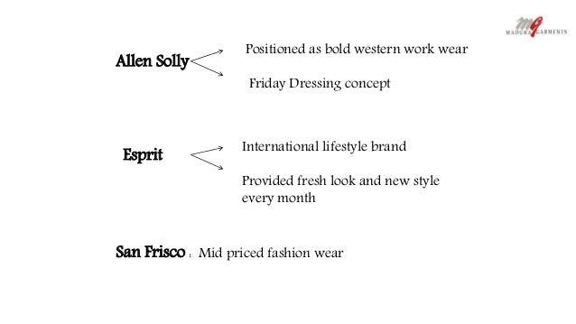 Allen Solly in the Indian Women's Western Wear Market *