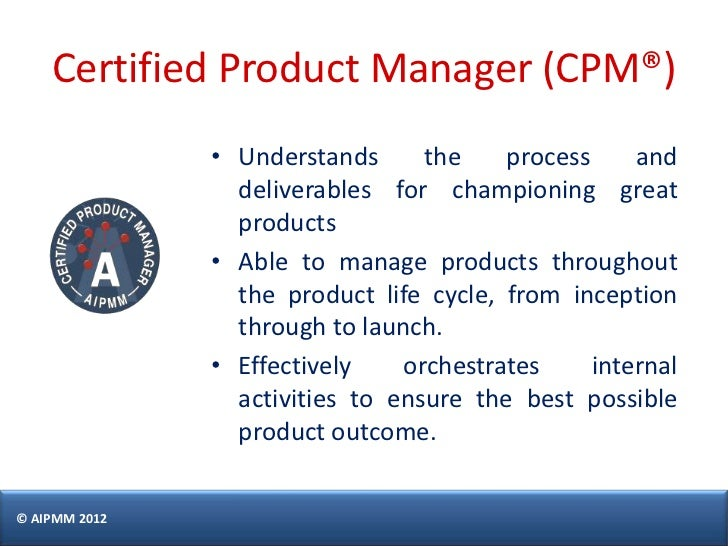 certification management aipmm castillo singapore manager process deliverables certified