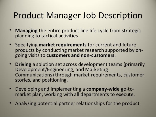 Product Management For SecondStage Technology Firms