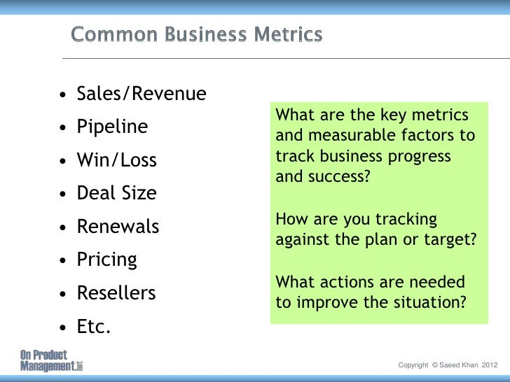 key metrics in a business plan