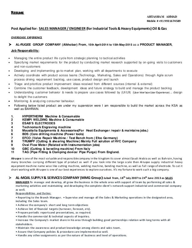 Sales Manager Resume Sample amp Writing Tips