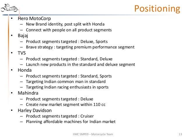 honda segmentation targeting positioning