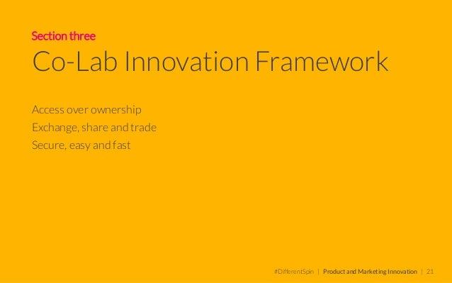 Co-Lab Innovation Framework INNOVATION PROGRAMME • Consumer • Market • Product • Prototype • Pilot • Evolve • Brand...
