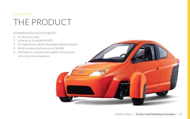 """Millennials in the future: driverless vehicles THE PROPOSITION """"In a nutshell, Elio is a stand alone solution for today's ..."""