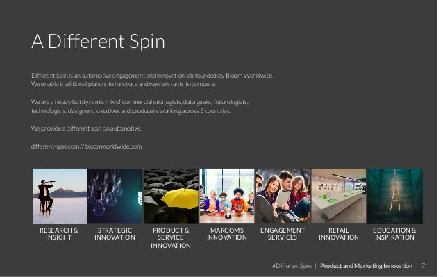 A Different Spin Different Spin is an automotive engagement and innovation lab founded by Bloom Worldwide. We enable tradi...
