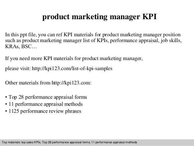 Product Marketing Manager Kpi