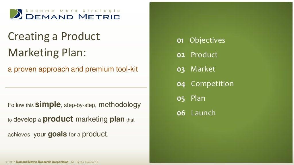 Product Marketing Plan Methodology & Tool-Kit
