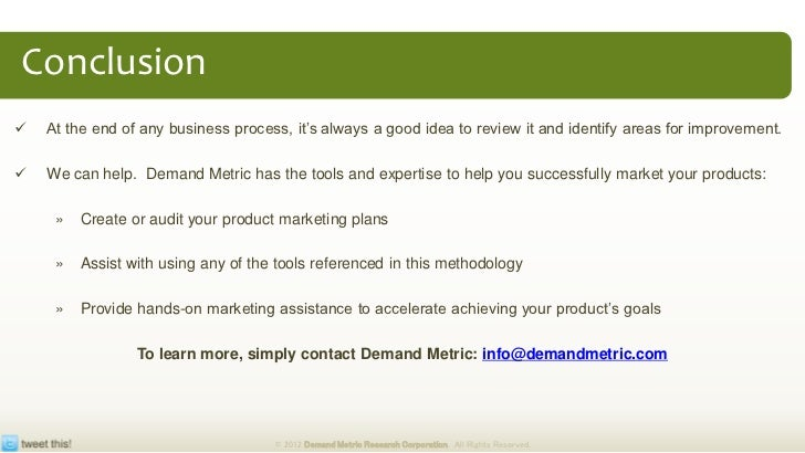 marketing plan conclusion example