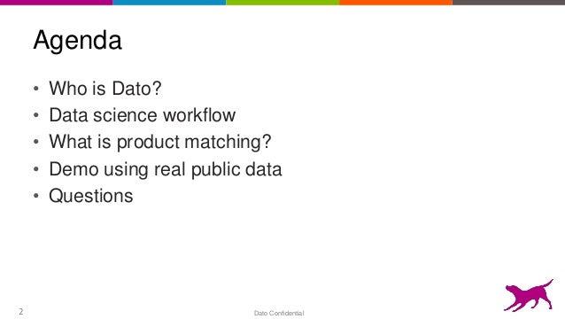 Webinar - Product Matching - Palombo (20160428) Slide 2