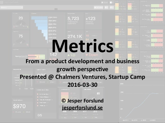 ©	jesperforslund.se ©	Jesper	Forslund	 jesperforslund.se	 Metrics From	a	product	development	and	business	 growth	perspec<...