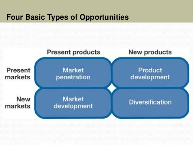 Four Basic Types of Opportunities