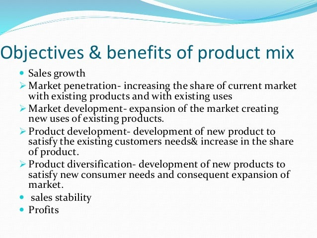 Product Mix Factors