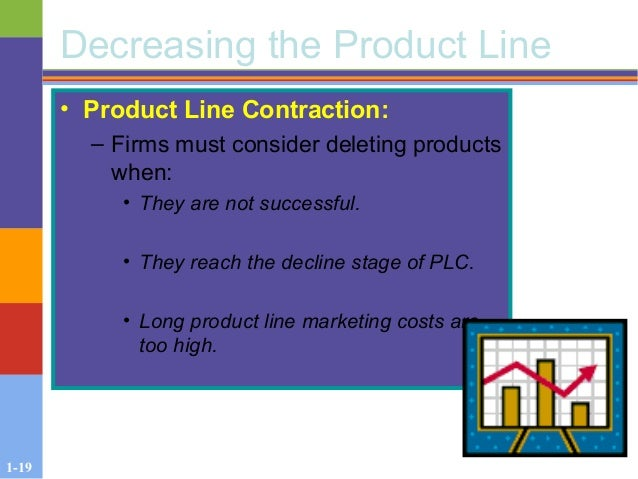 1-19 Decreasing the Product Line • Product Line Contraction: – Firms must consider deleting products when: • They are not ...