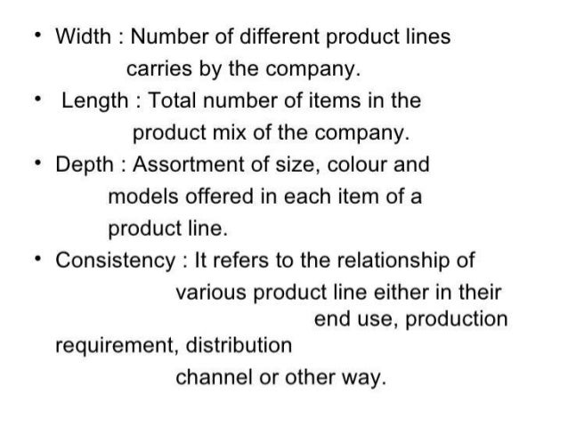 Product mix and product line Slide 3