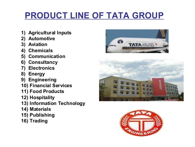 Product mix of tata industries