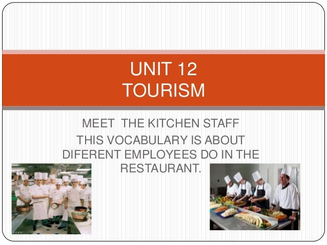 Restaurant Kitchen Vocabulary product n 4 english vocabulary tourism and hotels