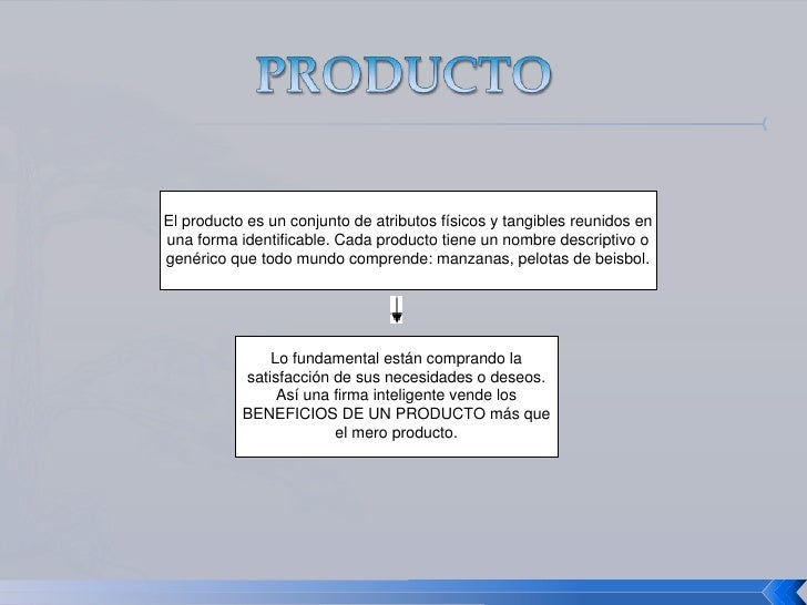 PRODUCTO<br />