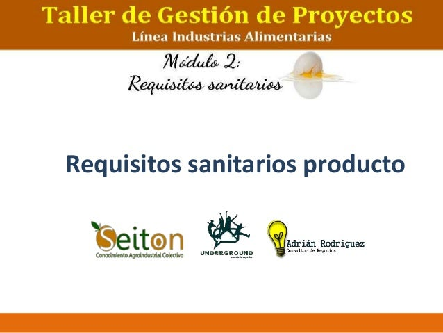 Requisitos sanitarios producto