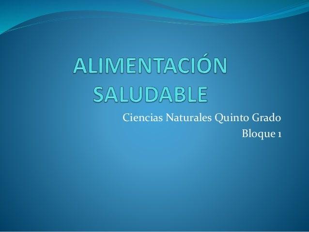 Ciencias Naturales Quinto Grado Bloque 1