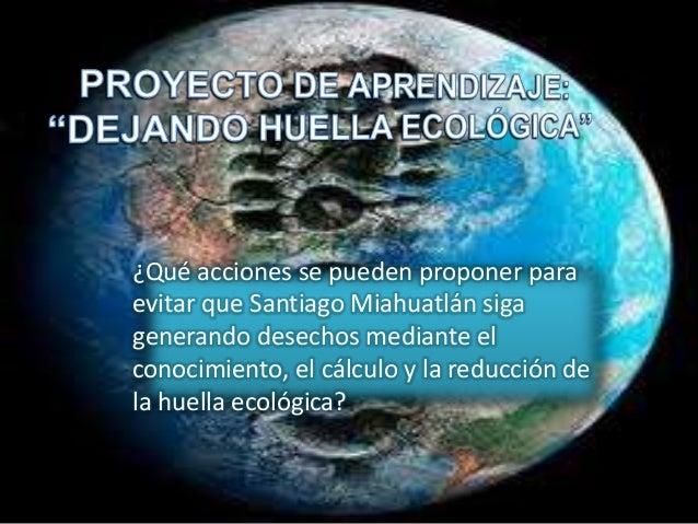 ¿Qué acciones se pueden proponer para evitar que Santiago Miahuatlán siga generando desechos mediante el conocimiento, el ...