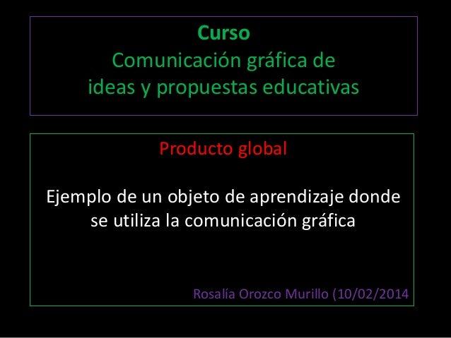 Curso Comunicación gráfica de ideas y propuestas educativas Producto global Ejemplo de un objeto de aprendizaje donde se u...
