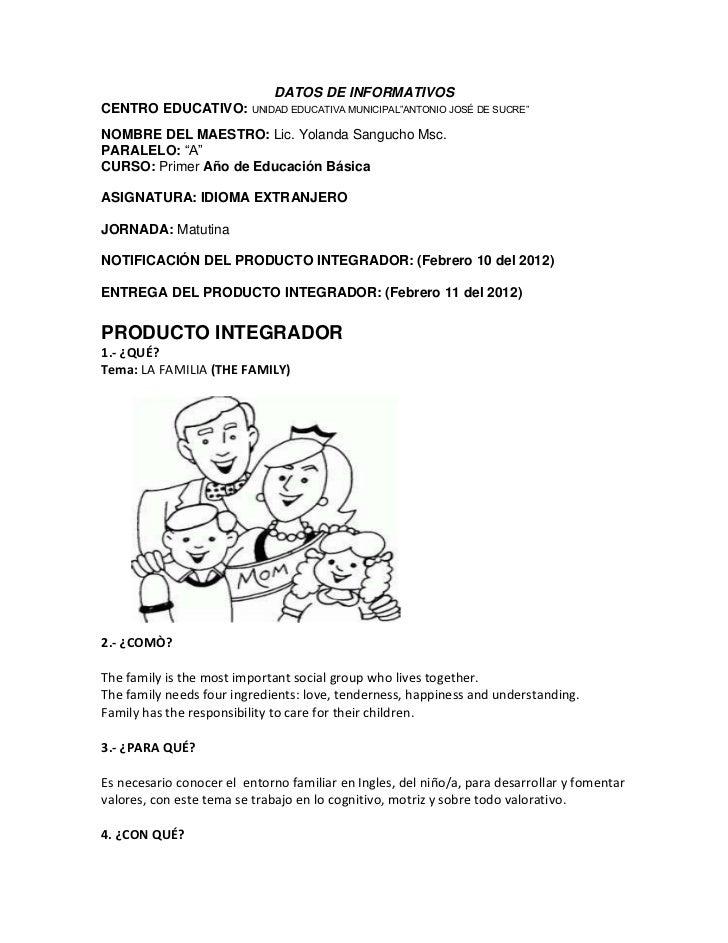 """DATOS DE INFORMATIVOSCENTRO EDUCATIVO: UNIDAD EDUCATIVA MUNICIPAL""""ANTONIO JOSÉ DE SUCRE""""NOMBRE DEL MAESTRO: Lic. Yolanda S..."""