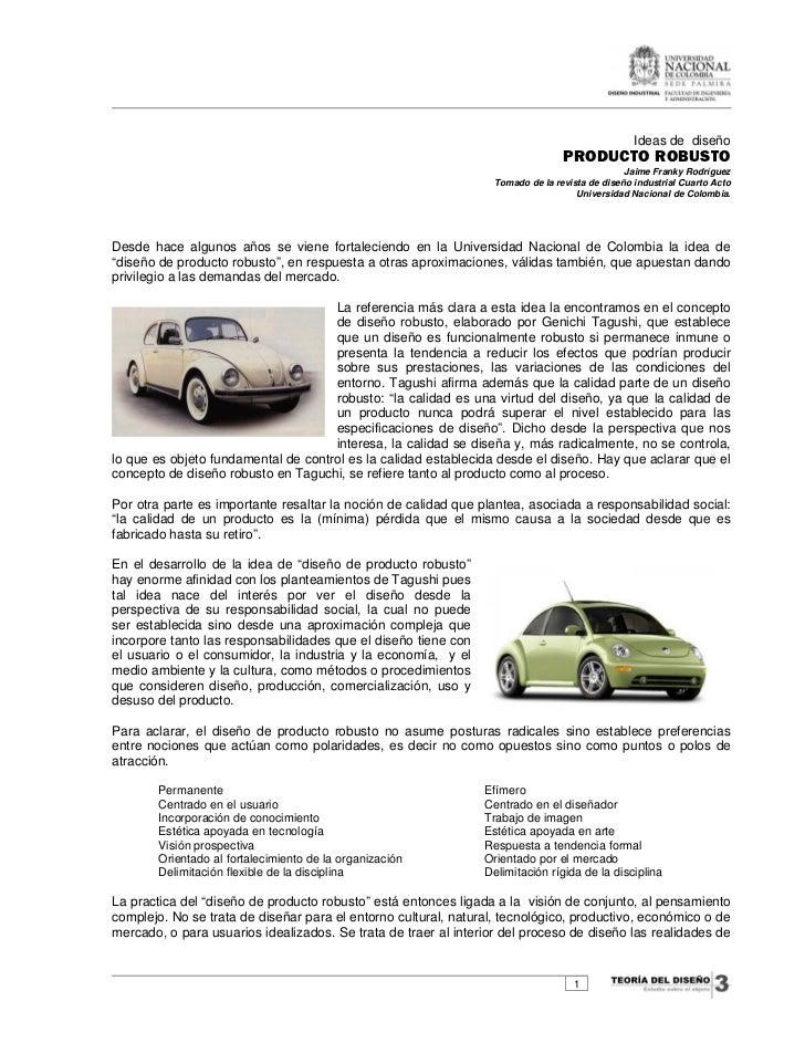 Ideas de diseño                                                                                 PRODUCTO ROBUSTO          ...