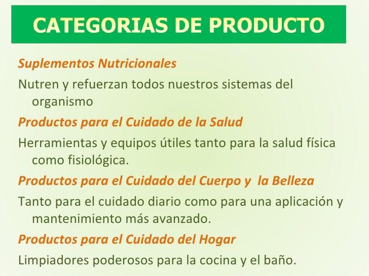 Suplementos Nutricionales Nutren y refuerzan todos nuestros sistemas del organismo Productos para el Cuidado de la Salud H...