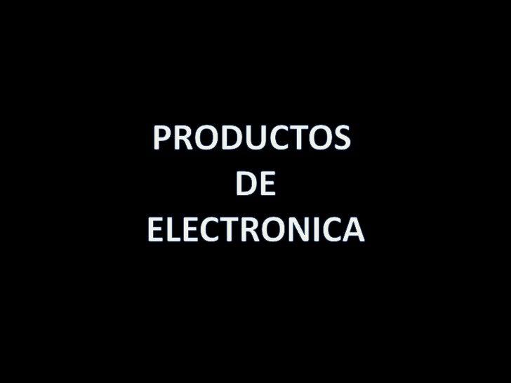 Fotos de los Productos