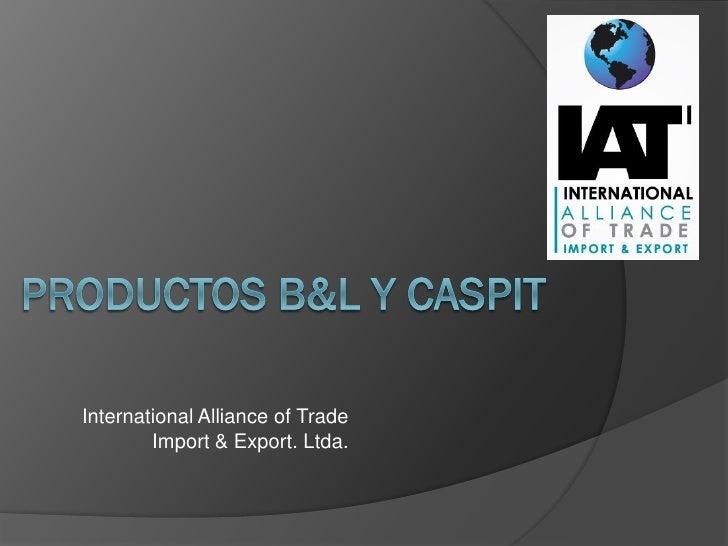 International Alliance of Trade        Import & Export. Ltda.